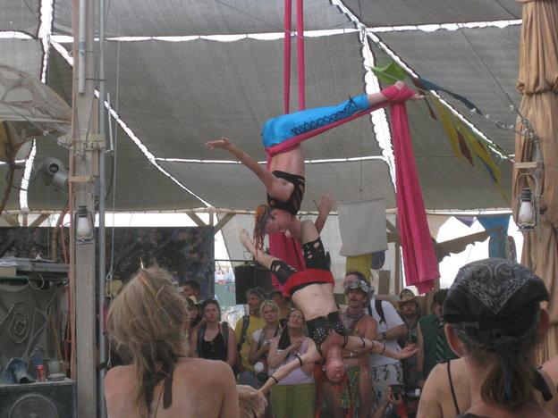 Aerial Silk in Center Camp