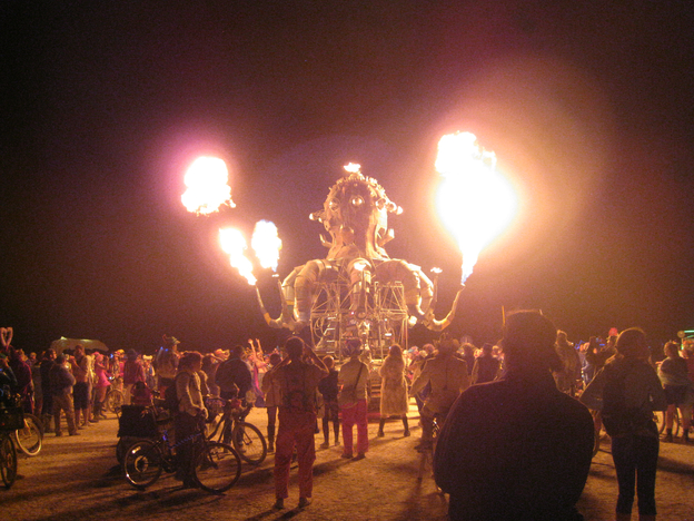 Squid Fire Art Car