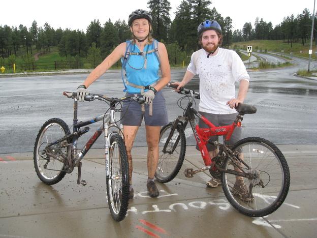 After biking Fisher Point