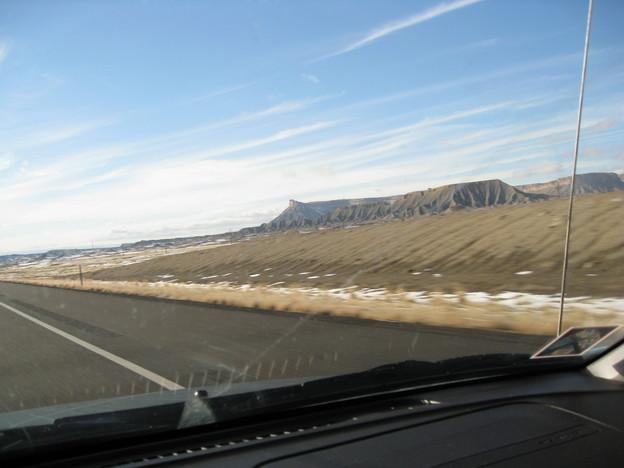 just entering Utah