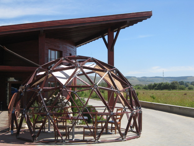 Geodesic dome at the restaurant
