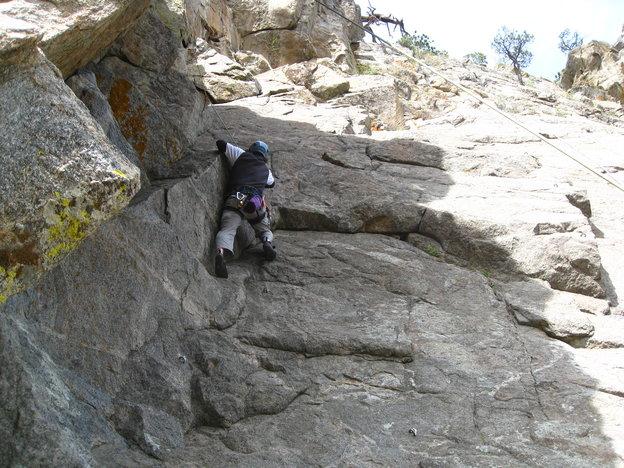 me climbing in Boulder Canyon