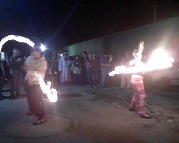 Fire spinners at Phoenix Asylum